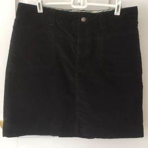 Black Athleta Velvet Skirt EUC Size 12